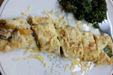Eggs Stuffed with Sautéed Zucchini & Cheese Recipe