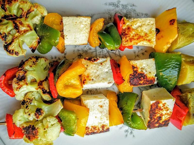 Paneer tikka with Veggies Recipe