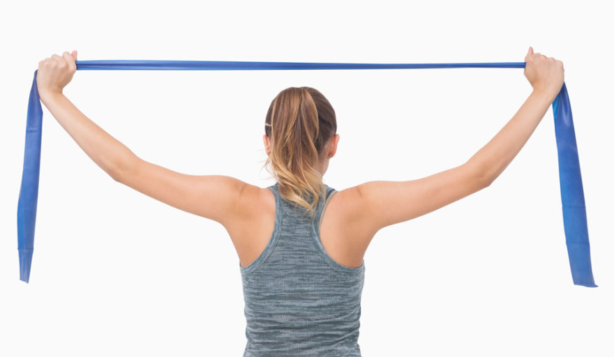 Resistance band workout at home
