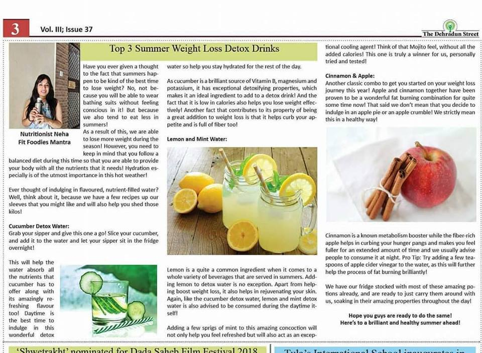 Top 3 Summer Weight Loss Detox Drinks